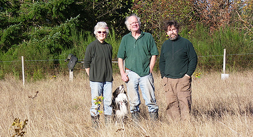 planting oaks at Guthrie Oak Grove