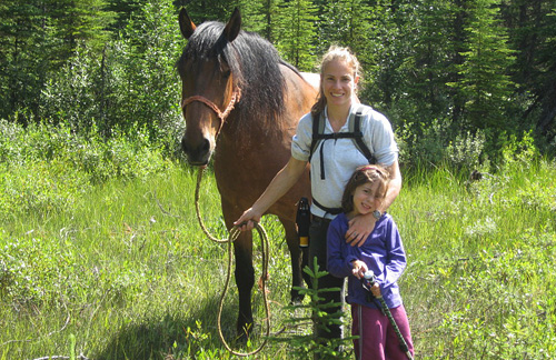 Jen with daughter and horse