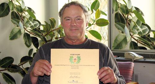 Rob Hagel with Acorn Award