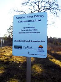 sensitive habitat sign