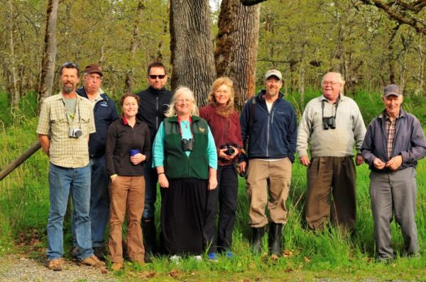 Tom and Syd (photo right) at the first bluebird release in the Cowichan Valley, May 2012