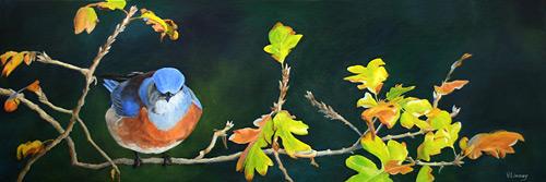 painting-Linney-bluebird